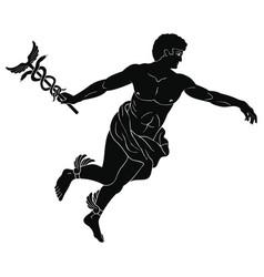 Ancient greek god hermes vector