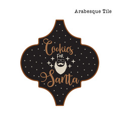 arabesque tile christmas ornament design xmas vector image
