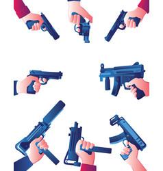 At gunpoint frame vector