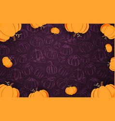 autumn backgrounds with pumpkin for shopping sale vector image