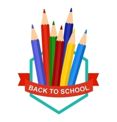 back to school pencil logo vector image