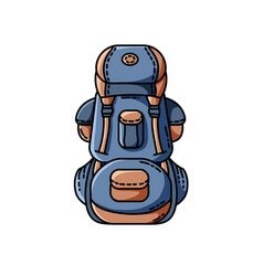 backpack icon flat design vector image