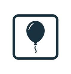 Balloon icon Rounded squares button vector