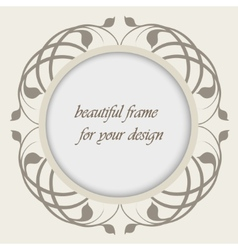 beautiful frame for your design vector image