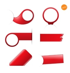 big set empty tags with place for you graphic vector image