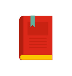 Bookstore icon flat style vector