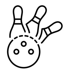 Bowling strike icon outline style vector