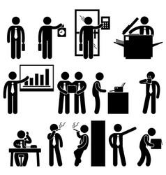 business businessman employee worker office vector image