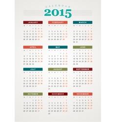 Calendar 2015 Template | Calendar 2015 November Design Template Royalty Free Vector