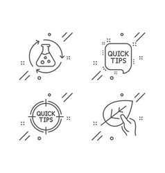 chemistry experiment tips and quick tips icons vector image
