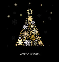 Christmas decoration with fir tree vector