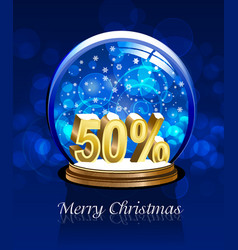 christmas snow globe discount vector image