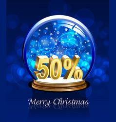Christmas snow globe discount vector