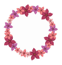 Colorful circular border with flowers vector