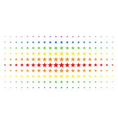 confetti star spectrum halftone effect vector image