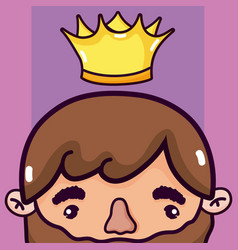 cute king cartoon vector image