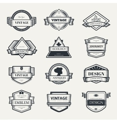 design logo elements template vector image