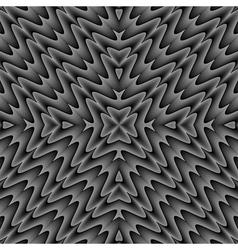 Design seamless monochrome zigzag wave pattern vector