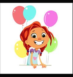 digital funny cartoon happy cute vector image