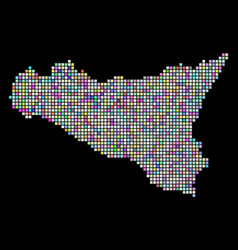 dotted sicilia map vector image