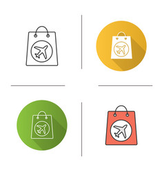 Duty free purchase icon vector