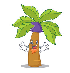 elf palm tree character cartoon vector image