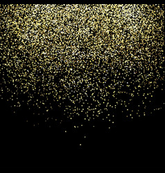 falling gold particles golden rain background vector image