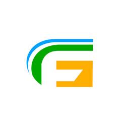 fg or gf letter logo vector image