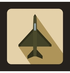 Fighter airplane icon flat style vector image