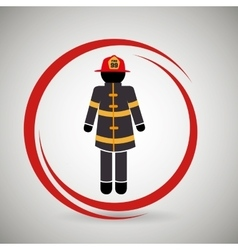 Firefighter uniform protection icon vector
