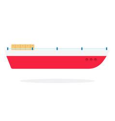 fishing boat flat isolated vector image