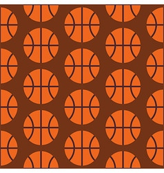 Flat Seamless Sport and Activity Basketball vector