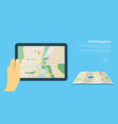 gps navigation map vector image