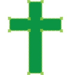 green cross vector image