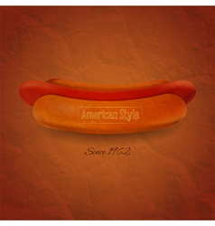 Grunge Cover for Hot Dogs Menu vector image