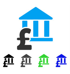 Library pound payment flat icon vector