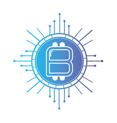 Line bitcoin cryptocurrency electronic and virtual vector