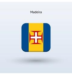 Madeira flag icon vector