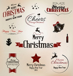Merry christmas labels vector image
