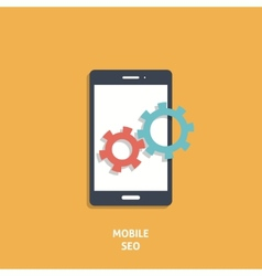 Mobile Seo Icon vector image