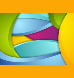 Multicolored abstract corporate wavy background vector