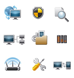 Network icon set vector