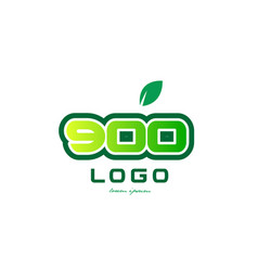 Number 900 numeral digit logo icon design vector