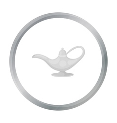 Oil lamp icon in cartoon style isolated on white vector image