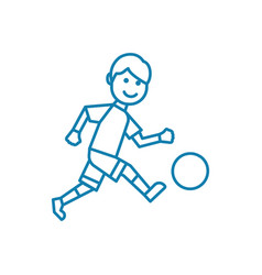 outdoor football linear icon concept outdoor vector image