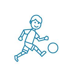 outdoor football linear icon concept outdoor vector image
