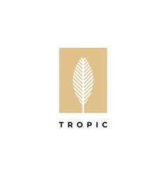 palm leaf logo design templateluxury elegant vector image