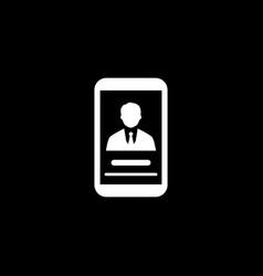 Partner profile icon business concept flat vector