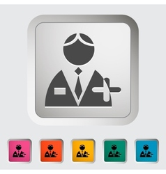 Person single icon vector image