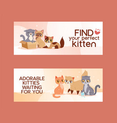 Pets adopt find friendship poster vector
